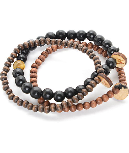 Goodwood NYC Ursa Major 3 Pack Black & Brown Bracelets