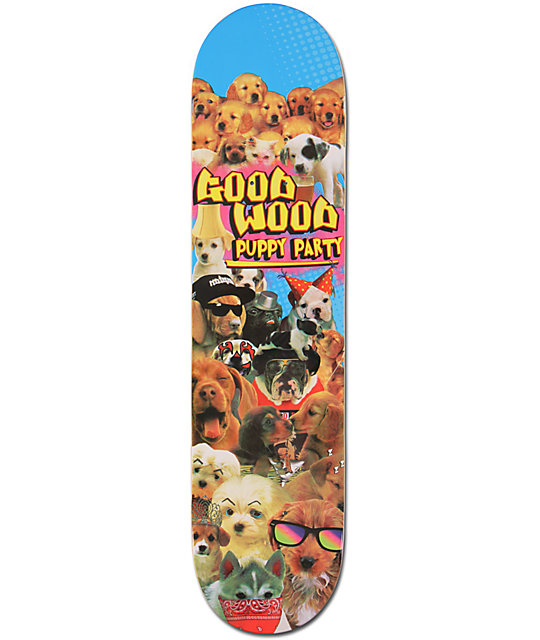"Goodwood Puppy Party 7.5""  Skateboard Deck"