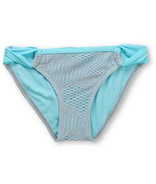 Gossip Flip Side Aqua & Grey Crochet Loop Side Bottom