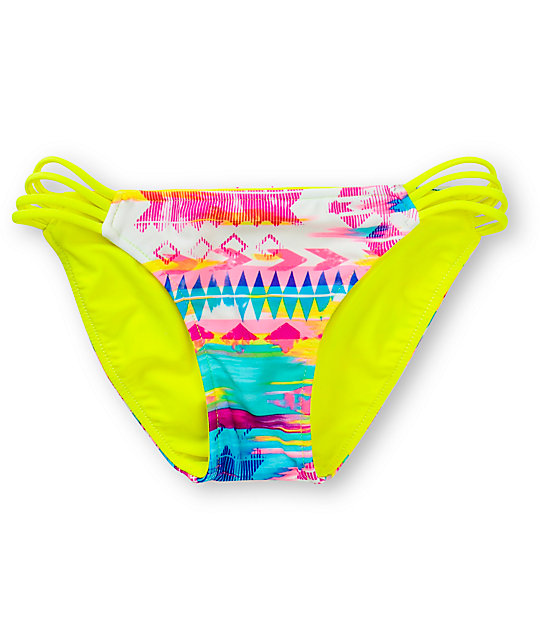 Gossip Mix Tape Side Strap Bikini Bottom