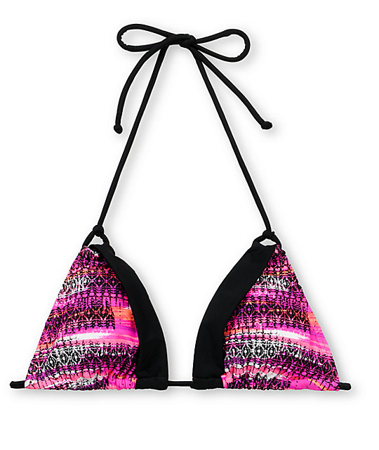 Gossip Pinking Of You Triangle Bikini Top