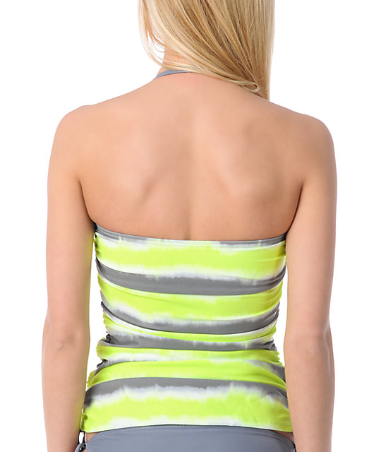 Gossip Wipe Out Tie-Dye Tankini Top