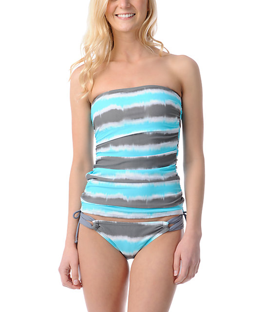 Gossip Wipe Out Turquoise, Grey & White Loop Side Hipster Bottom