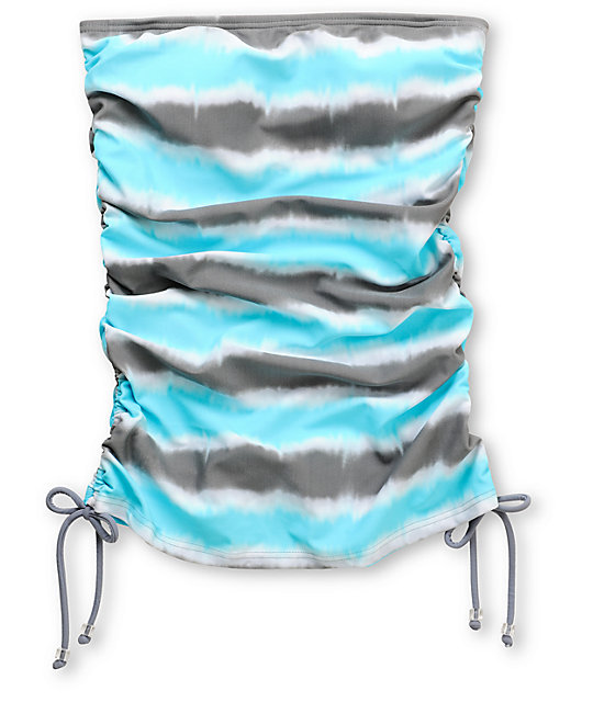 Gossip Wipe Out Turquoise & Grey Tie-Dye Tankini Top