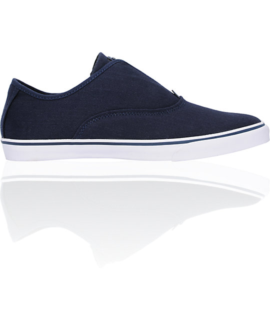 Gravis Dylan Slip On Pea Coat Navy Skate Shoes