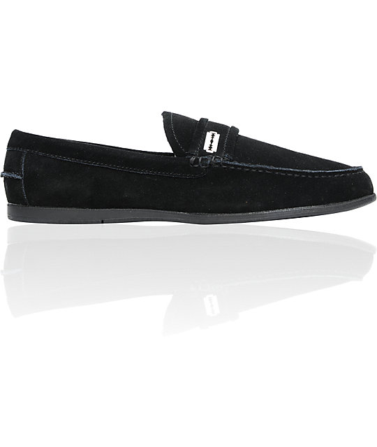 Gravis Rieder Black Suede Shoes