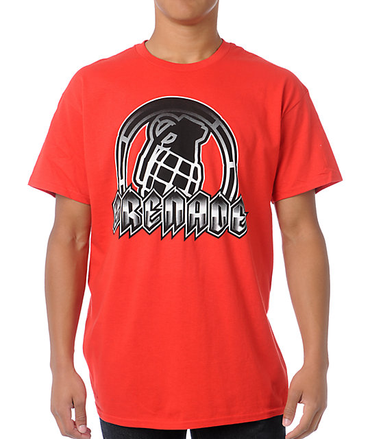Grenade Amped Art Red T-Shirt