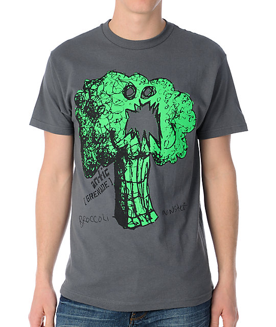 Grenade Antic Broccoli Monster Charcoal T-Shirt
