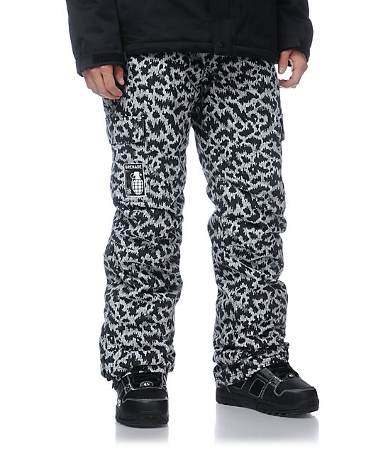 Grenade Army Corps Print Grey 10K Snowboard Pants