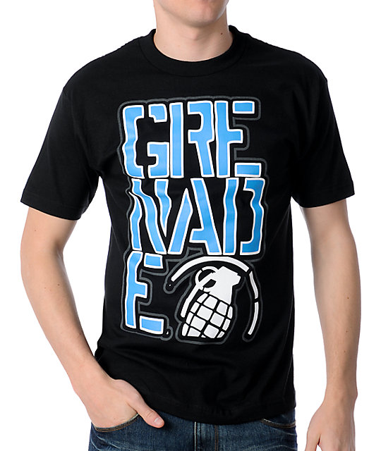 Grenade Big Crop Black T-Shirt