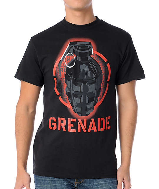 Grenade Black Ops Black T-Shirt