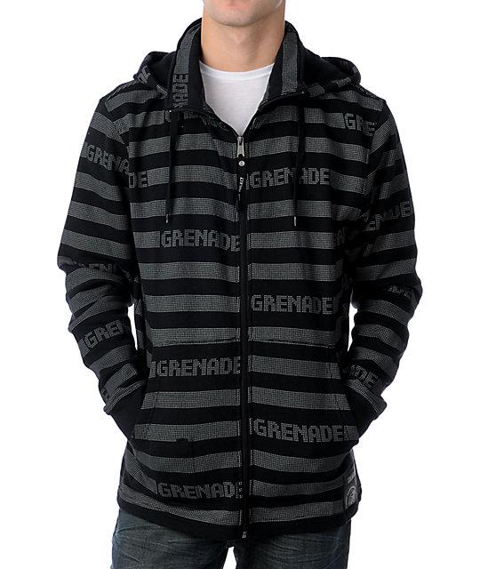 Grenade Castabio Black & Grey Fleece Hoodie
