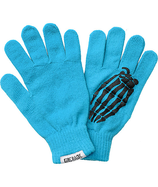 Grenade Crypt Blue Knit Gloves