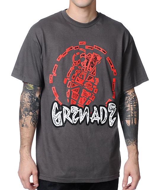 Grenade Dead Shatter Charcoal T-Shirt