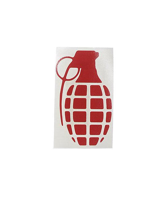 Grenade Die Cut Sticker