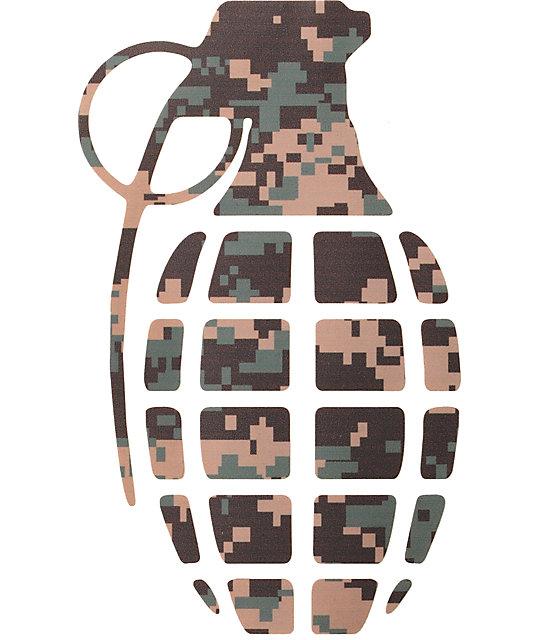 Grenade Digi Camo Die Cut Sticker