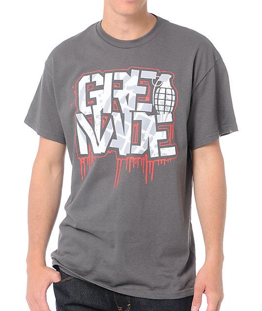 Grenade Dripstick Charcoal T-Shirt