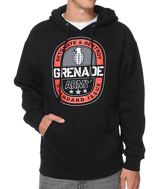 Grenade Emblem Black Pullover Hoodie