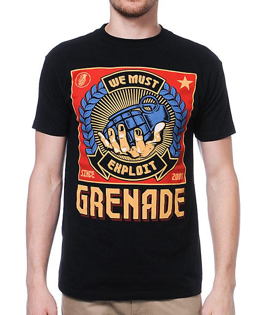 Grenade Exploit Poster Black T-Shirt