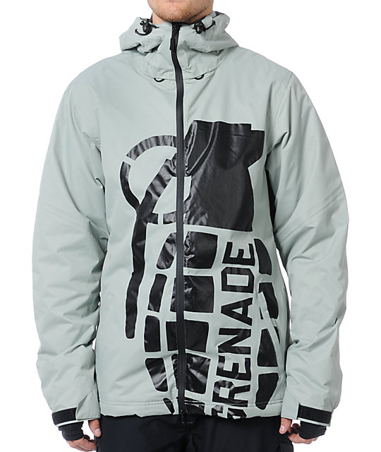 Grenade Exploiter 10K Grey Snowboard Jacket 2012