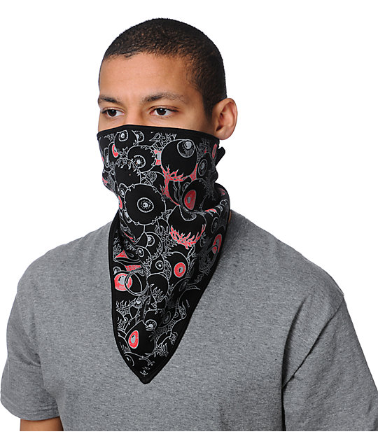 Grenade Eyeball Black Face Mask