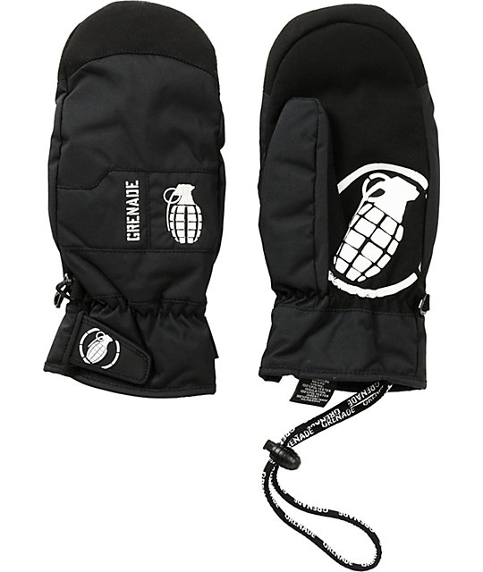 Grenade Fragment Mens Black Snowboard Mittens