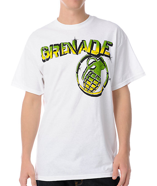 Grenade Graffiti Bang White T-Shirt