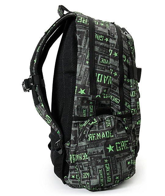 Grenade Green & Black Task Force Backpack