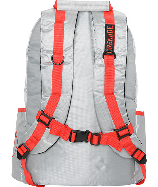 Grenade Grey Logo Backpack