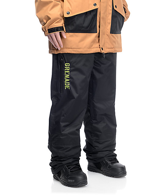 Grenade Grindhouse Black 10K Snowboard Pants