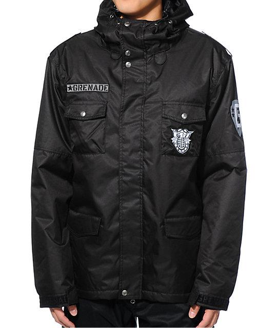 Grenade Lieutenant M65 Black 10K Snowboard Jacket