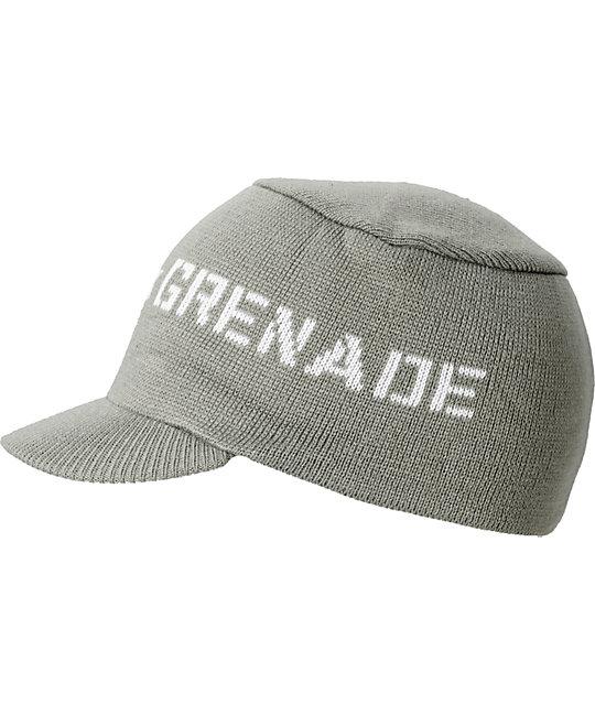 Grenade Logo Cap Grey Visor Beanie