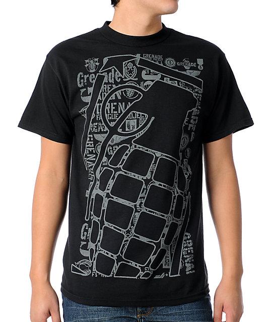 Grenade Repeater Black T-Shirt