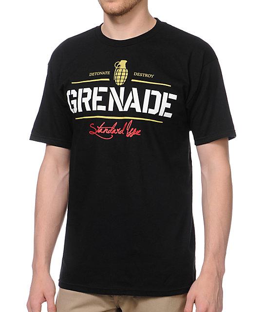 Grenade Script Logo Black T-Shirt
