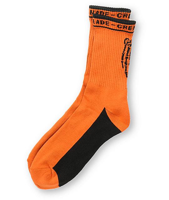 Grenade Skelesock Orange Sock
