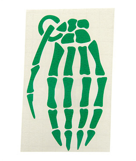 Grenade Skeleton Hand 4 Sticker