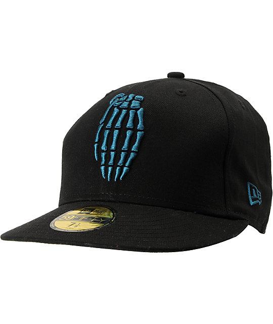 Grenade Skull Bomb Black New Era Hat