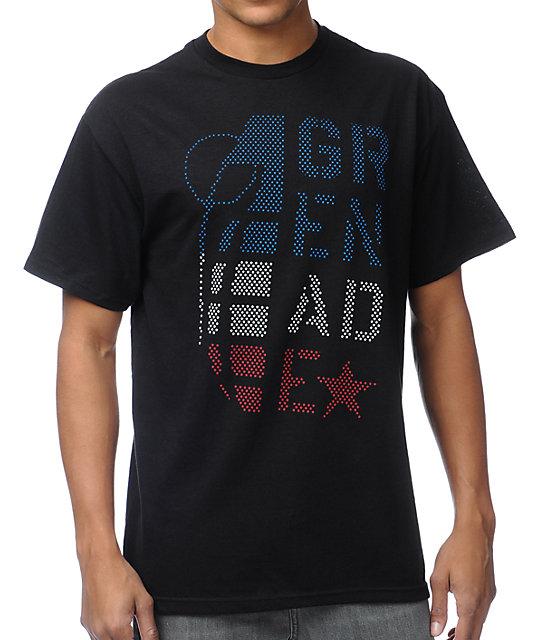 Grenade Stacked Star Black T-Shirt