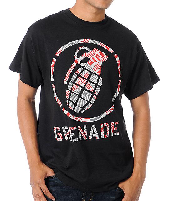 Grenade Stenz Black T-Shirt