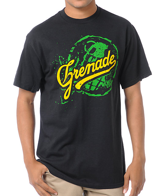 Grenade Team Art Black T-Shirt