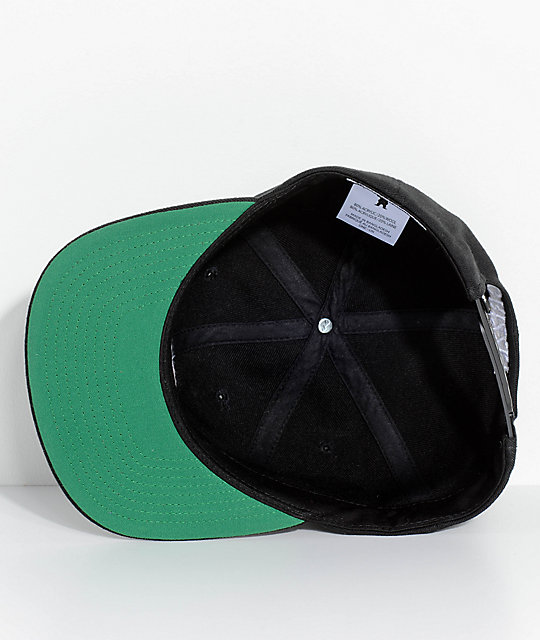 Grizzly North Field Black Snapback Hat