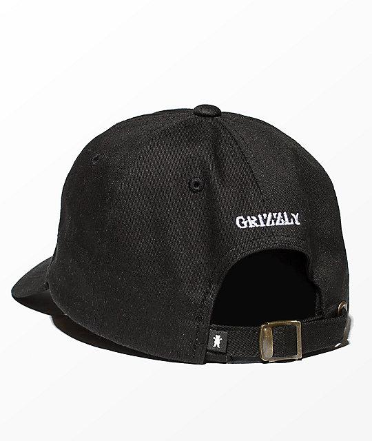 Grizzly OG Bear Logo Black Dad Hat ae0aad8b22b8