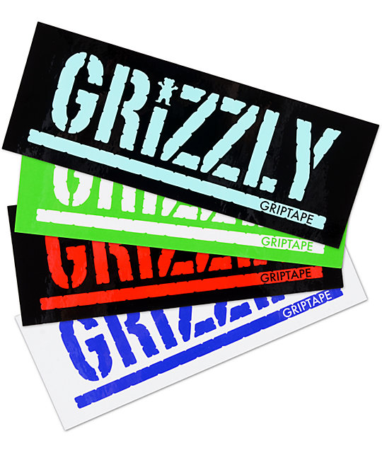 Grizzly Stamp Assorted Sticker