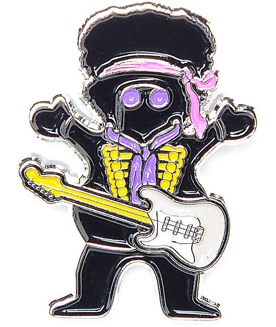 Grizzly X Hendrix Black Enamel Pin
