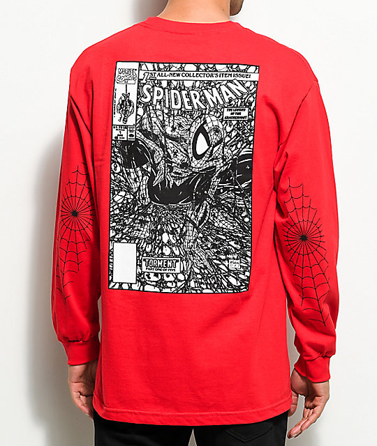 Grizzly X Marvels Spider-Man Red Long Sleeve T-Shirt | Zumiez
