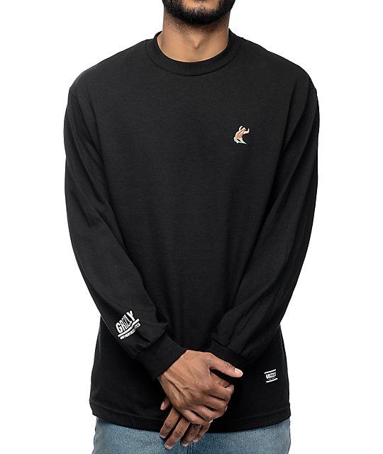 Grizzly x EVERYBODYSKATES Black Long Sleeve T-Shirt