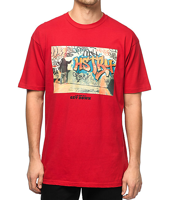 HSTRY x The Get Down Writer Red T-Shirt