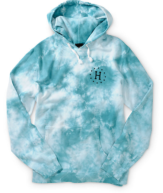 huf 12 galaxy tie dye hoodie. Black Bedroom Furniture Sets. Home Design Ideas