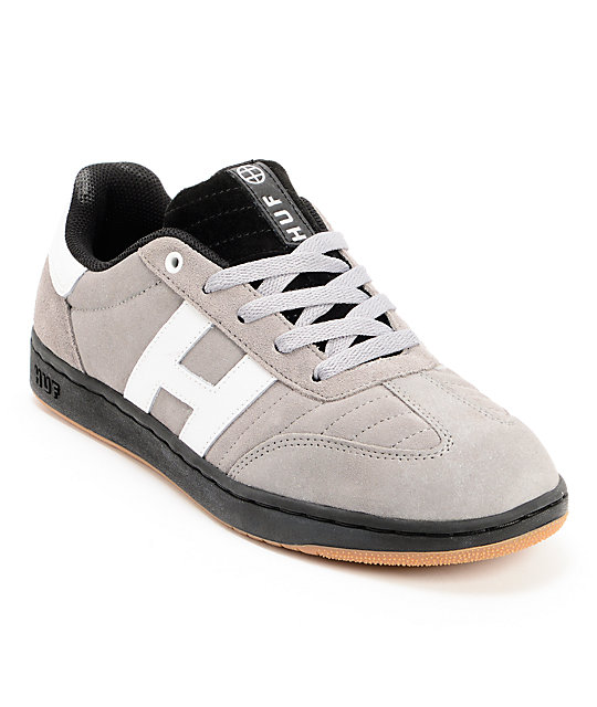 HUF Arena Ash Grey & Black Skate Shoes