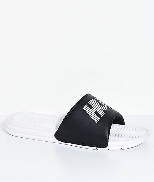 HUF Black & White 10k Slide Sandals